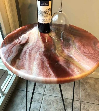 Table Top legs red carmel